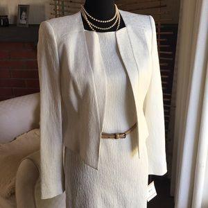 ✨NWT✨Anne Klein 2 Pc Ivory Dress Suit